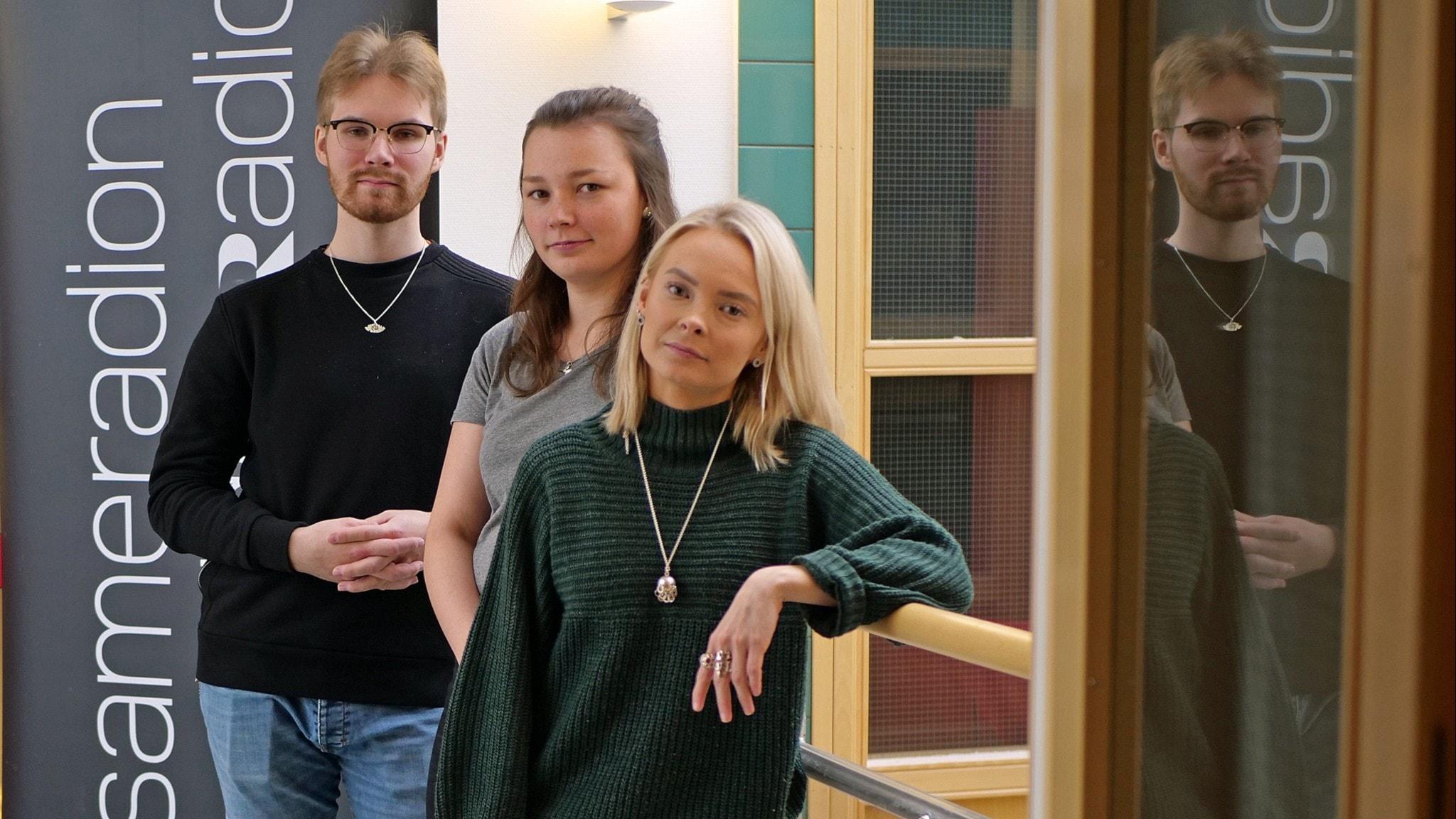 Dulvi med Nils-Joel Partapuoli, Pia-Maria Labba och Ida Labba
