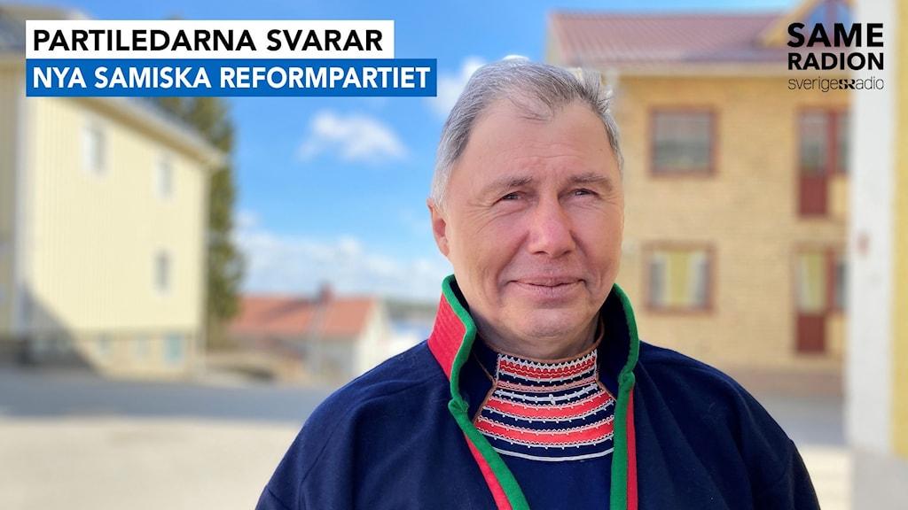 partiledarna svarar Nya samiska reformpartiet. Ronny Svarto april 2021 inför sametingsvalet.