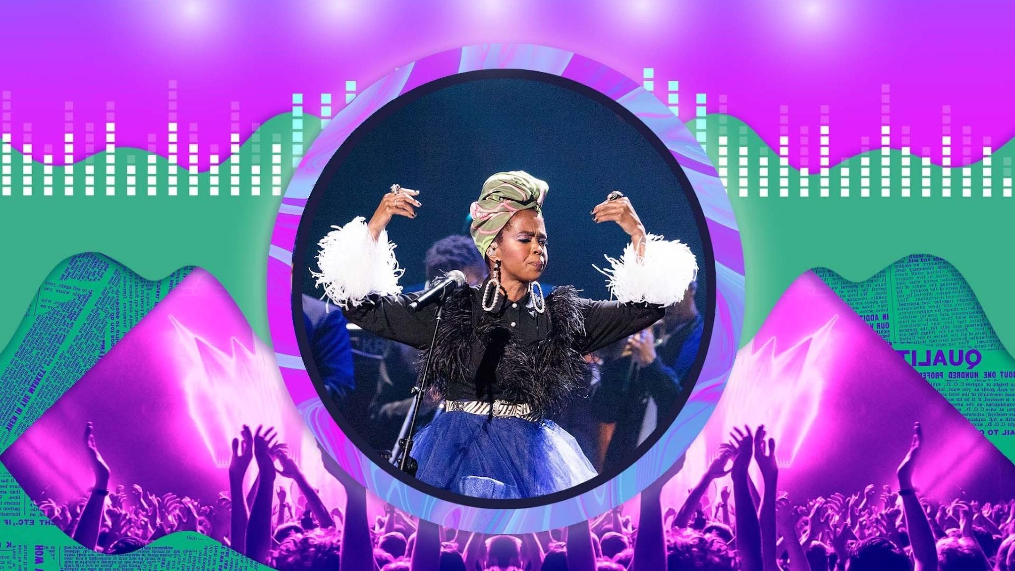 Lauryn Hill på scenen.