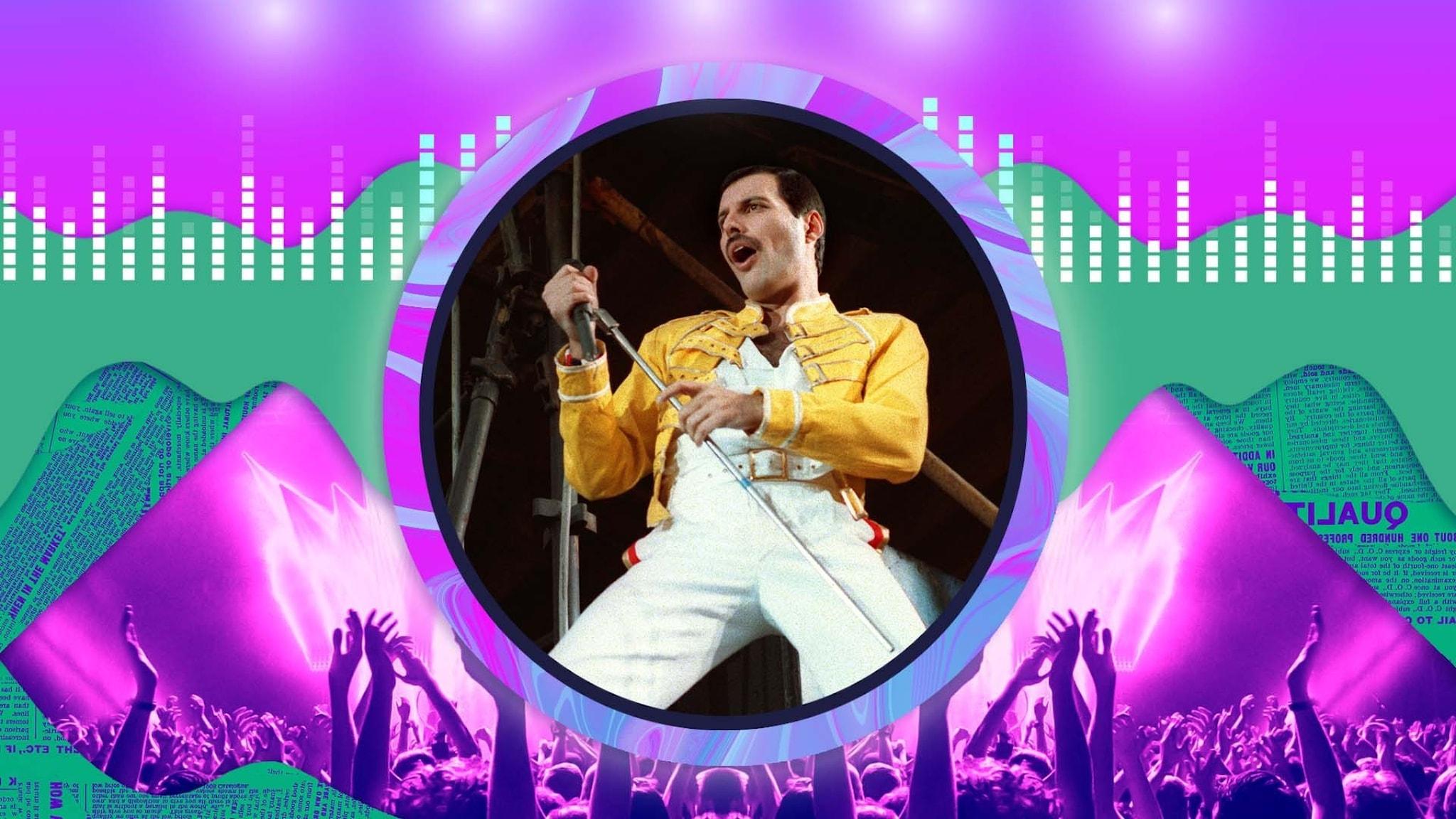 Freddie Mercury på scenen