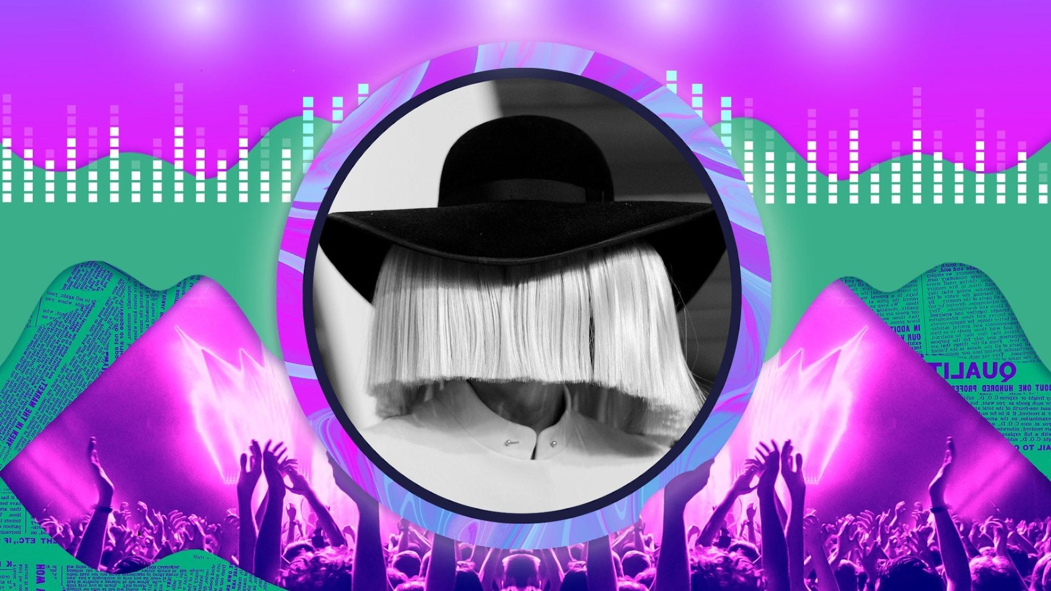 Sia - gömmer sig mitt i rampljuset