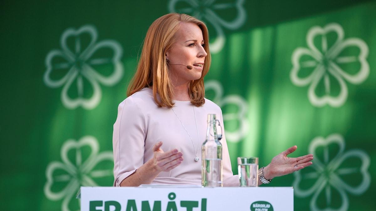 Annie Lööf i Almedalen.