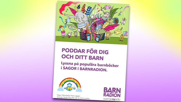 Affisch Sagor i Barnradion