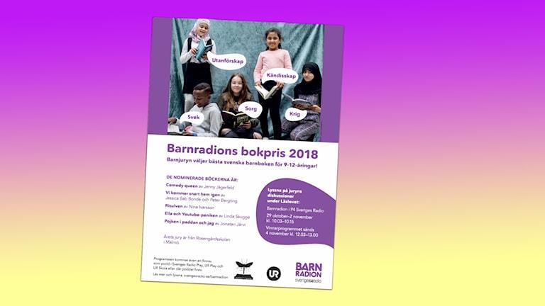 Affisch för Barnradions bokpris 2018