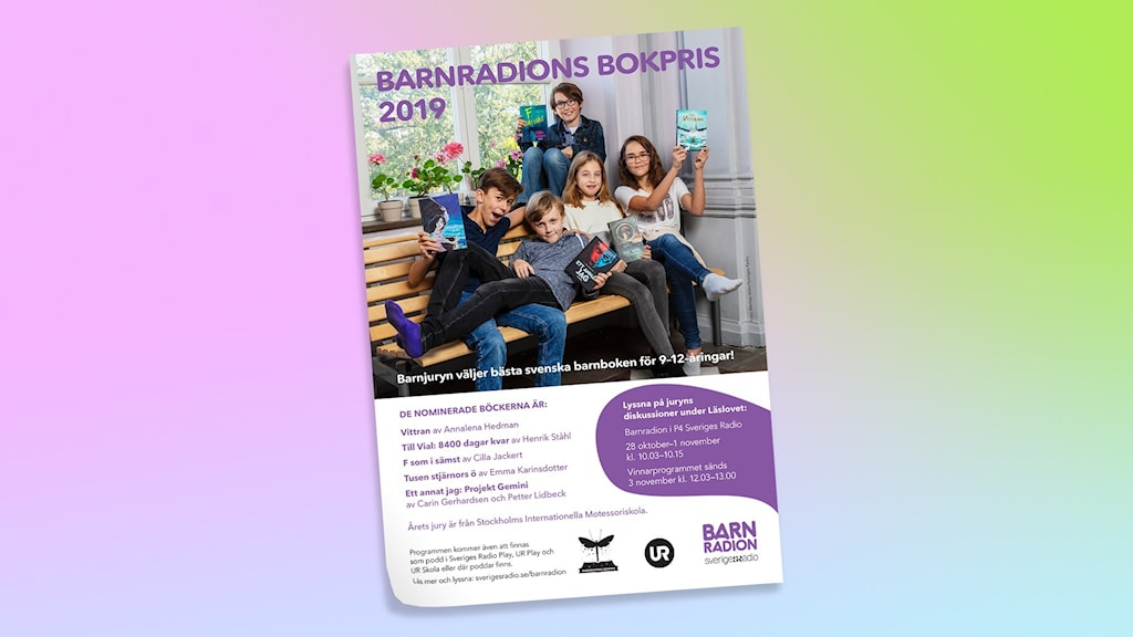 Barnradions bokpris 2019. Fotograf: Mattias Ahlm/SR.