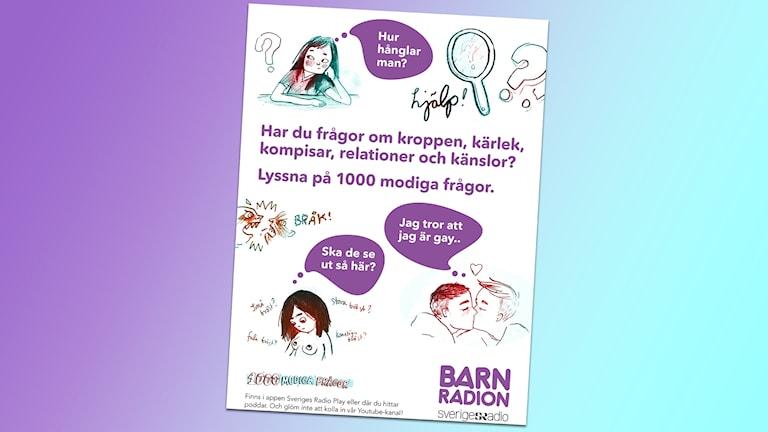 affisch för 1000 modiga frågor