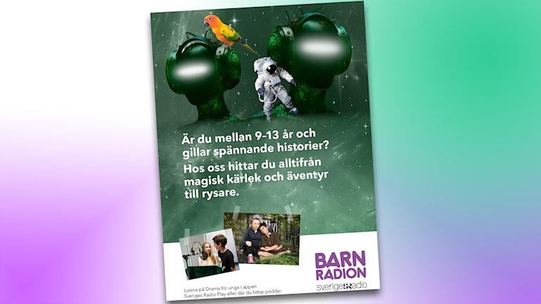 Affisch för Drama för unga skolbibliotek