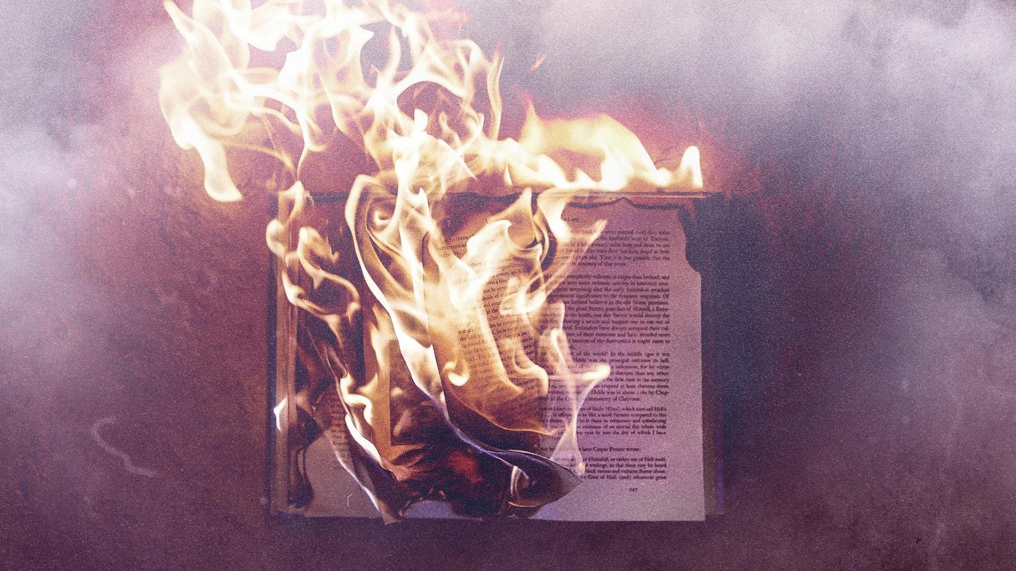 En bok som brinner