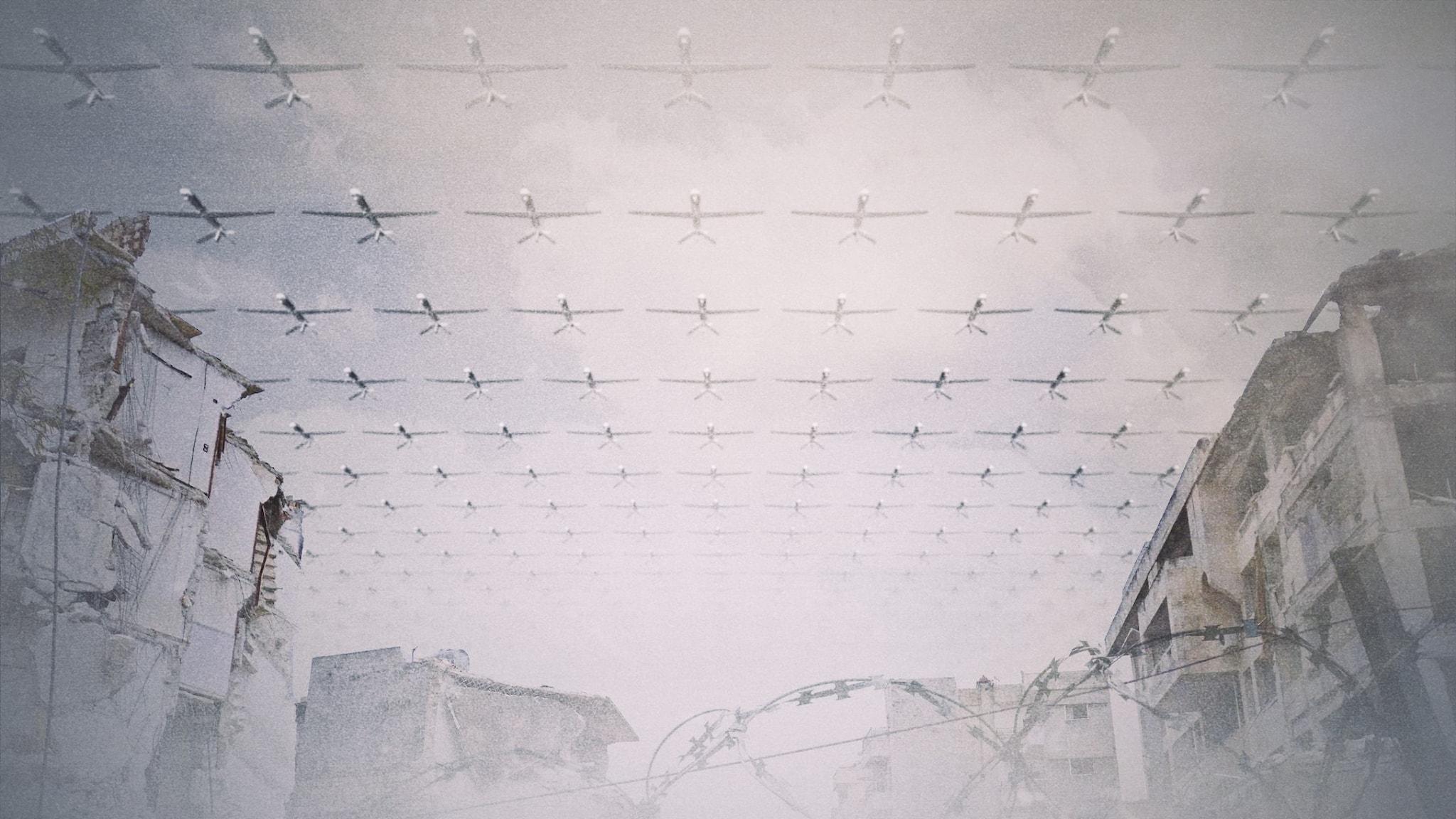 En armé av flygande drönare