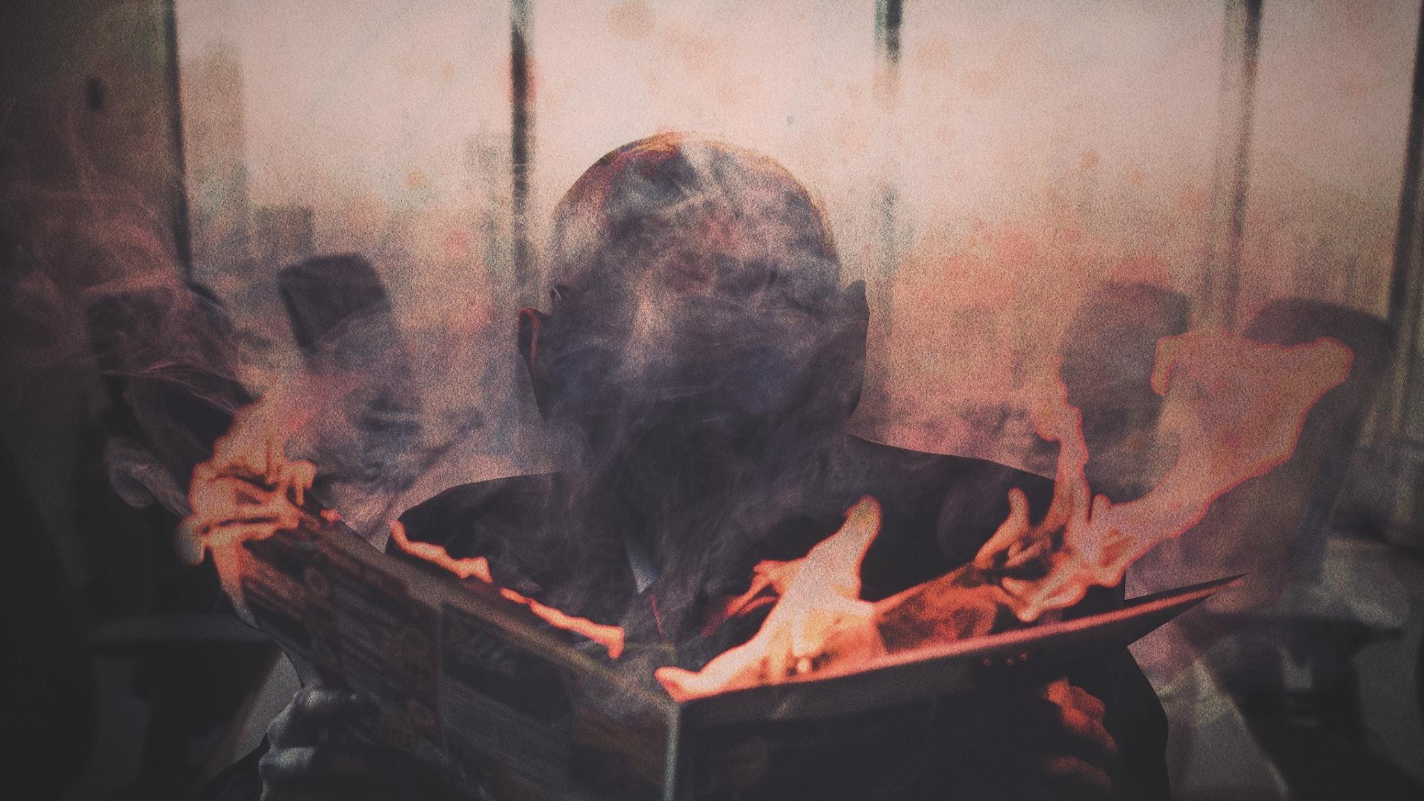 Brinnande bok