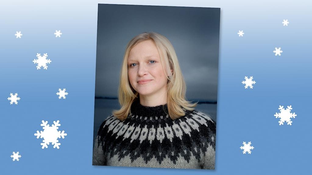 Porträtt av Maria Parr, som skrivit boken Tonje Glimmerdal. Foto: Agnete Brun
