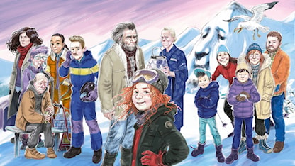 Bild på Tonje och alla andra som är med i årets julkalender.