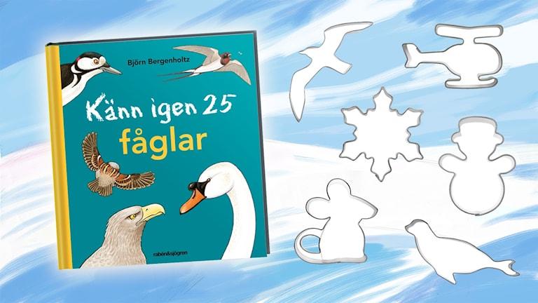 """Tävlingspriser: Boken """"Känn igen 25 fåglar"""" och pepparkaksformar"""