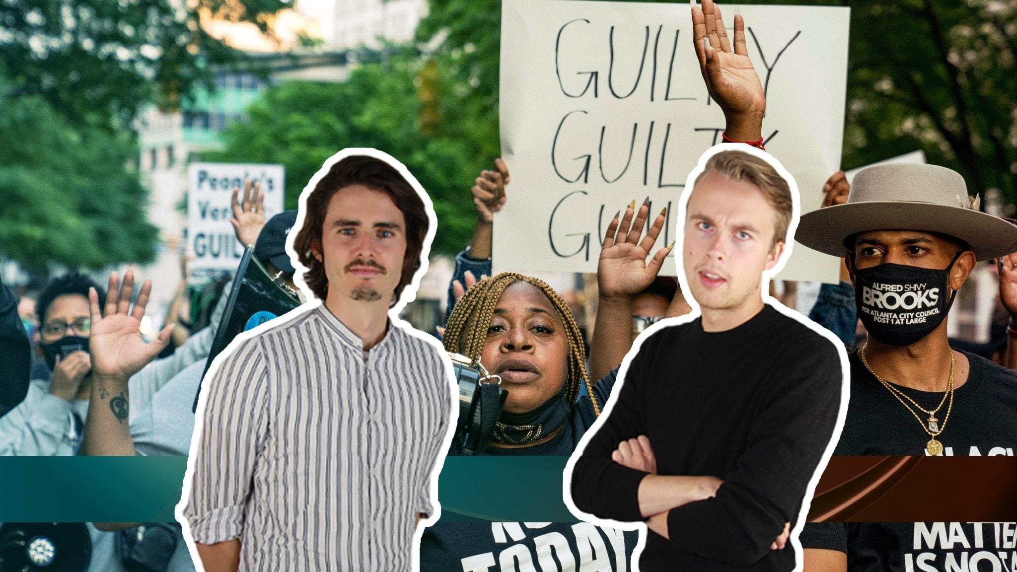Reaktioner i USA efter att Derek Chauvin dömts för att ha dödat George Floyd.