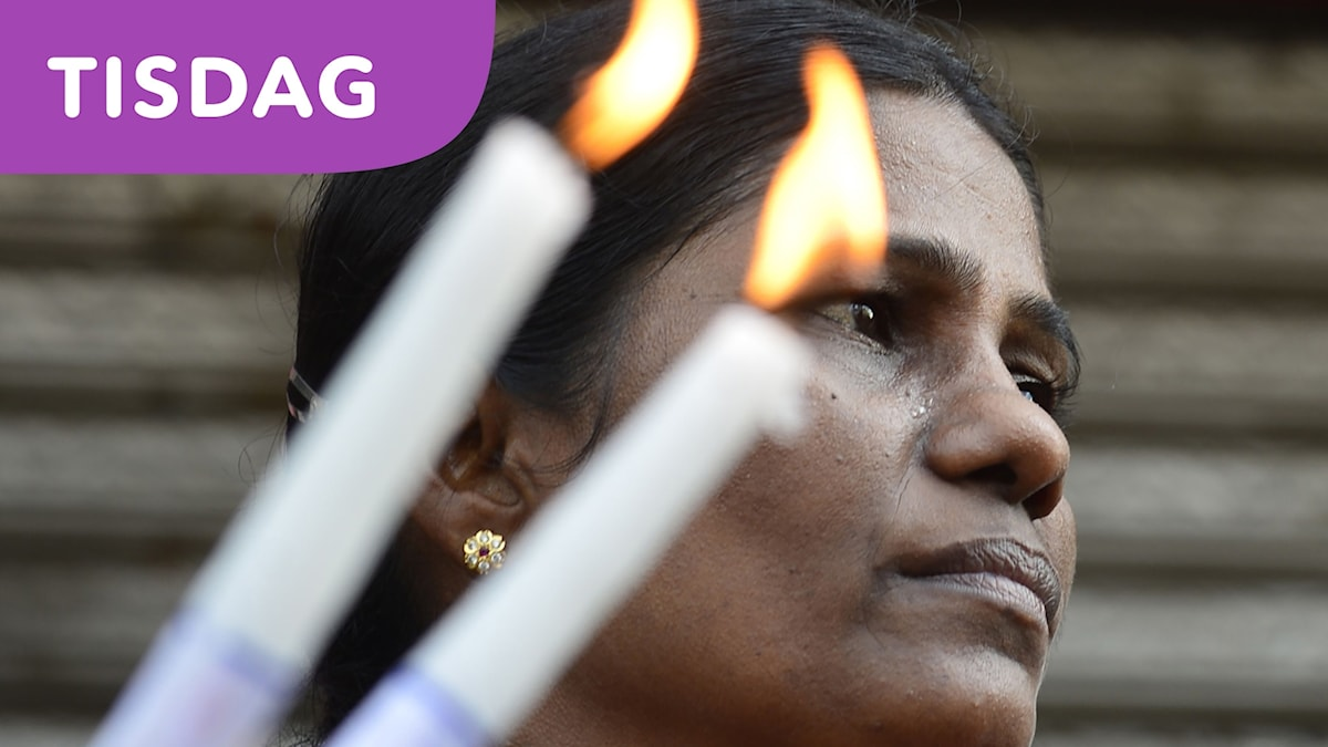 Sorg i Sri Lanka efter terrordåden.