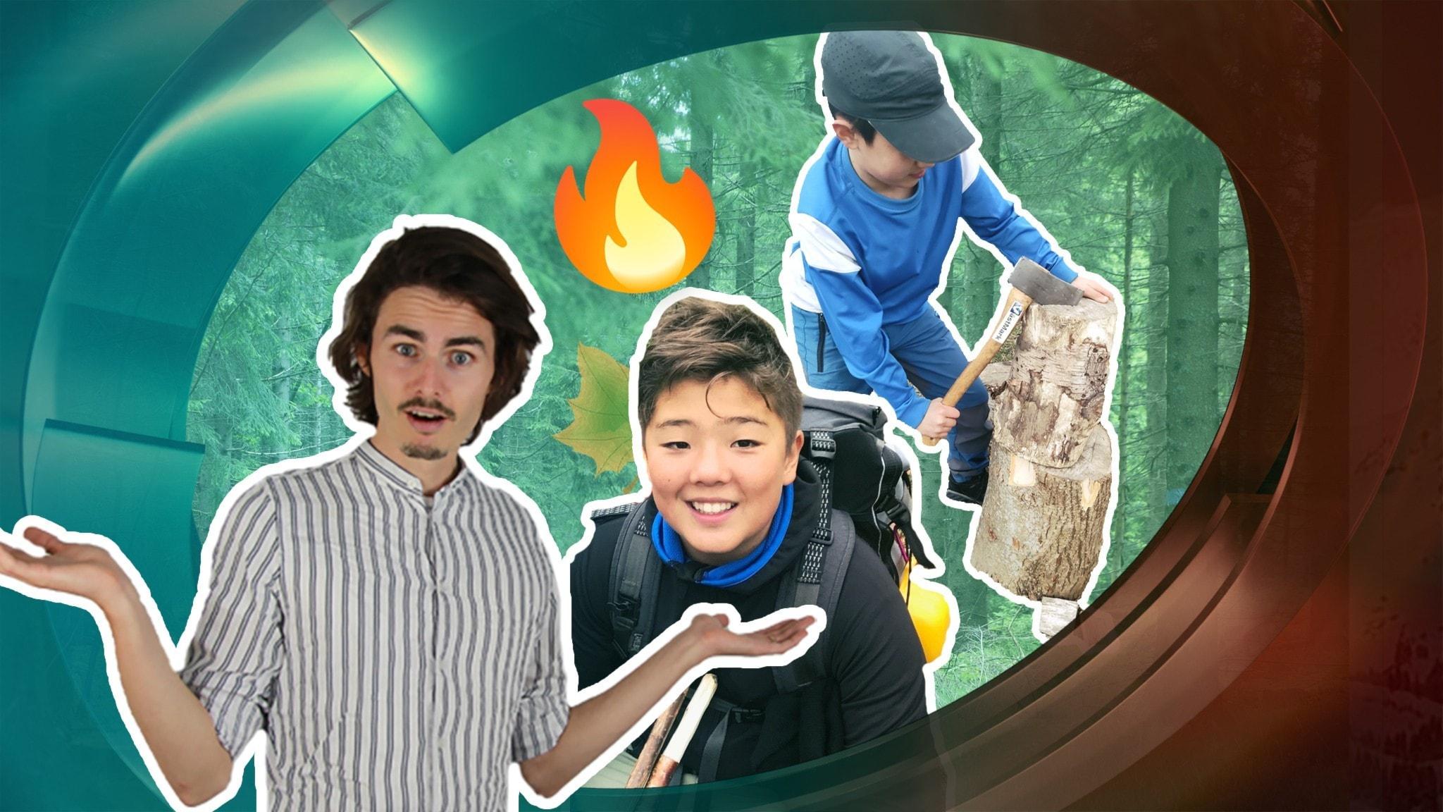 Arvid har varit på besök hos scouter och Oliver längtar efter att få laga mat i skogen