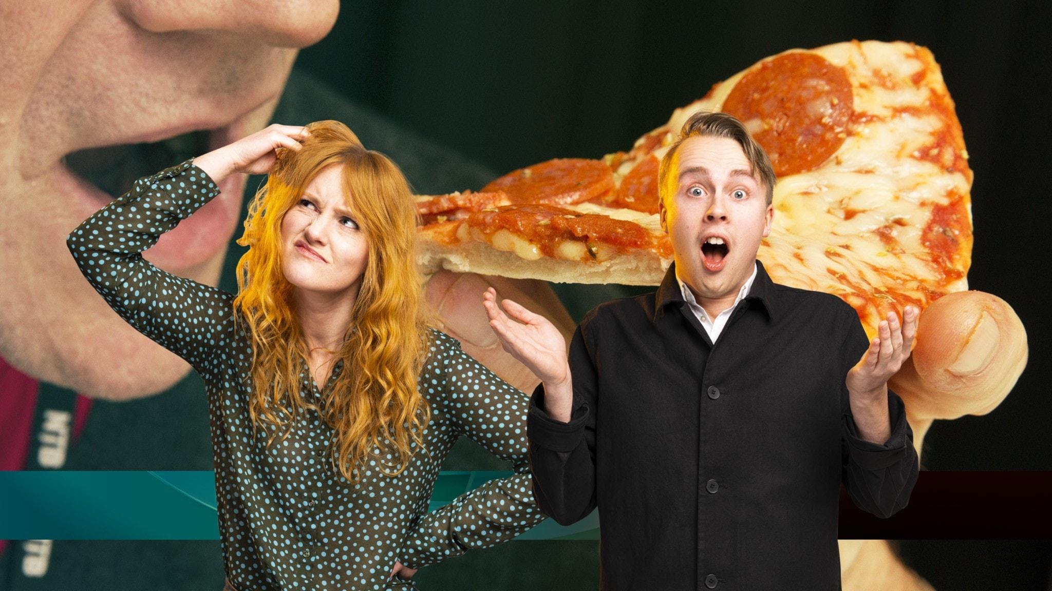 Juniornyheterna om en ostig pizza