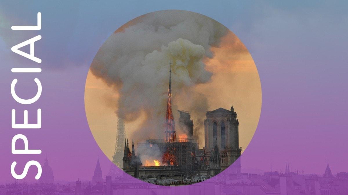 Notre Dame i lågor.