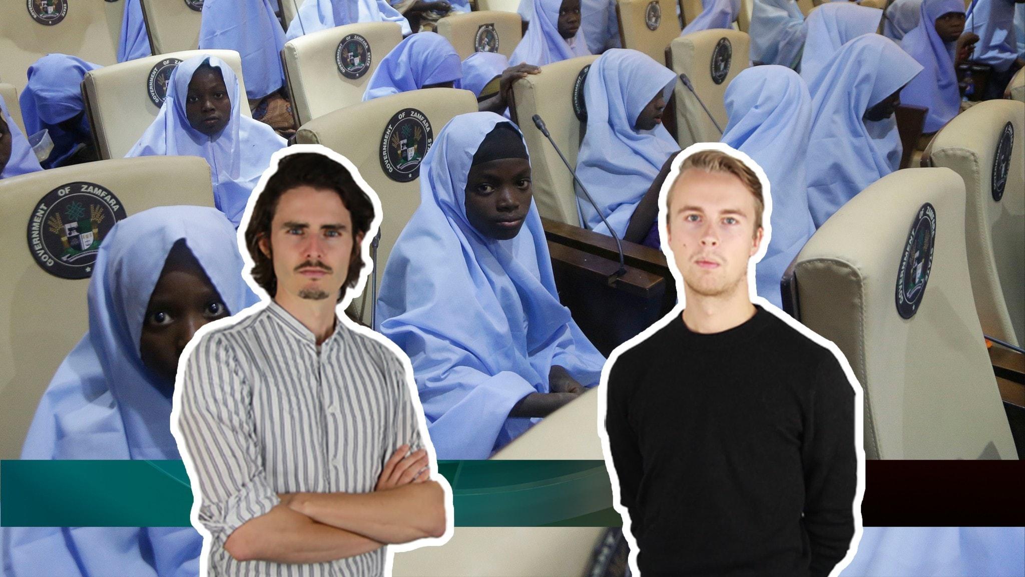 Frisläppta skolbarn i Nigeria