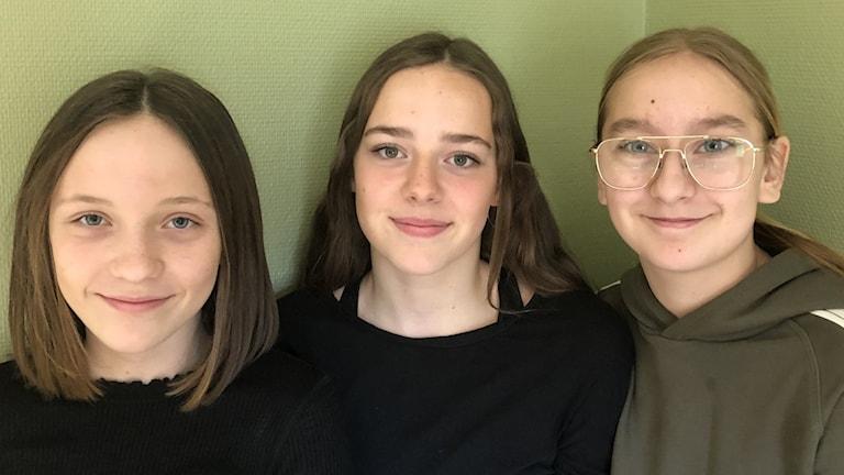 Ella Nordmark, Isa Malmer och Adela Rastoder.