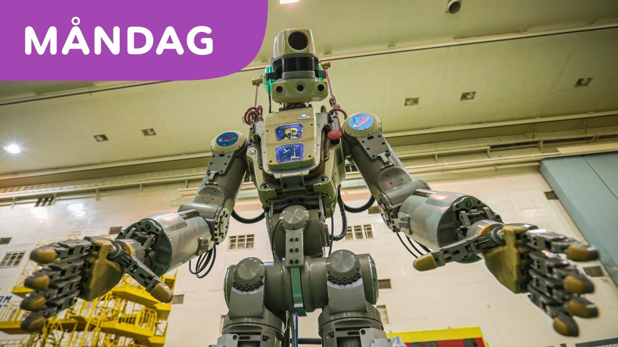 Roboten Fedor besöker rymdstation