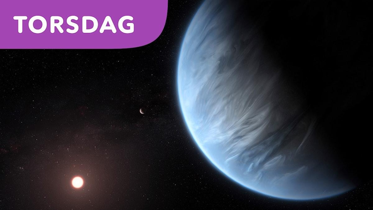 Ny planet där vattenånga upptäckts