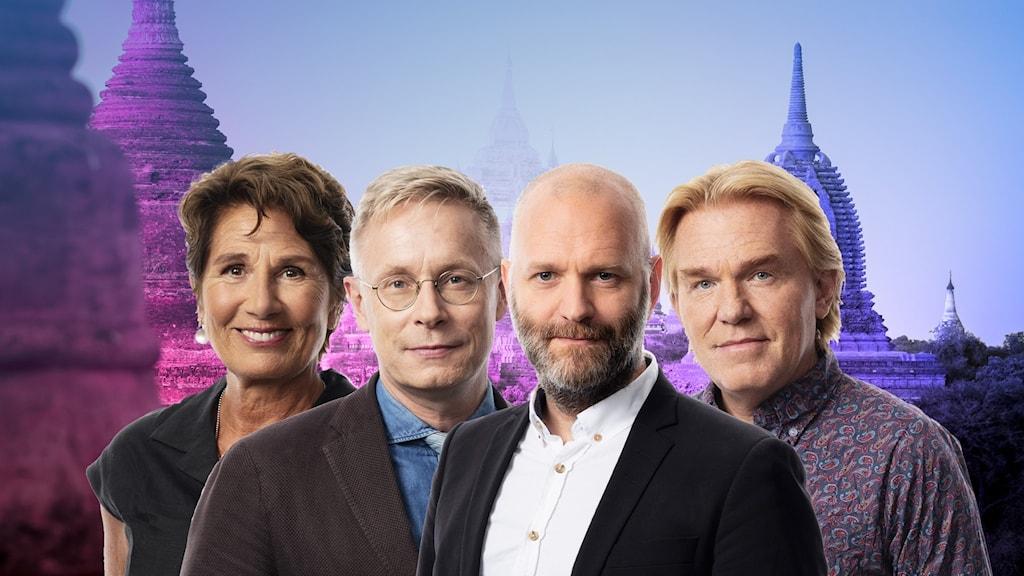 Alice Petrén, Daniel Alling, David Rasmusson och Jesper Lindau.
