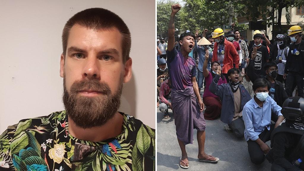 Bild på svenska Michael Hauer i Myanmar
