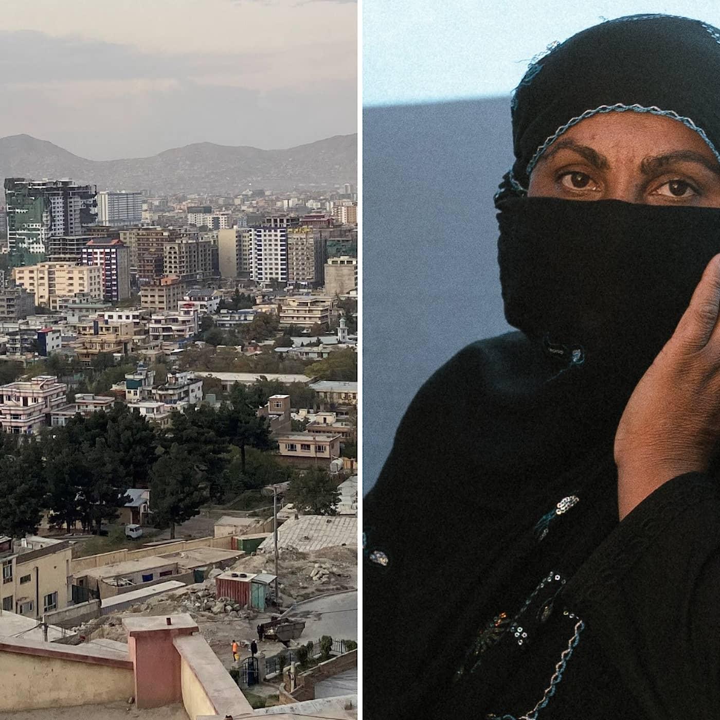 Hon försöker överleva i talibanernas Kabul