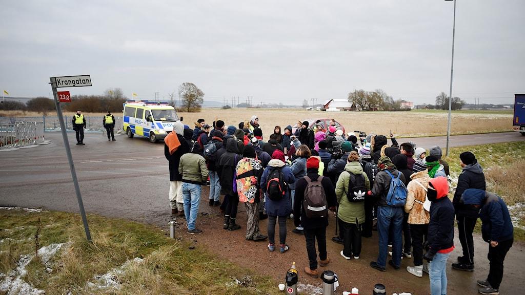 Flyktingar FOTO Emil Langvad : TT