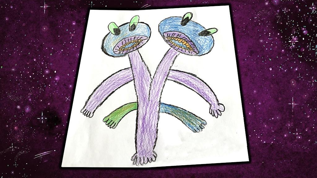 Teckning inskickad av Emma, 10 år, från Smålandsstenar.