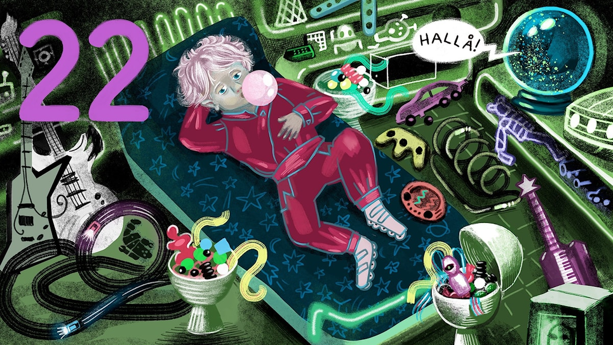 Biggest Bang, del 22: Horgatt Malex ligger på sängen i sitt rum fullt av prylar. Bild: Anna Sandler