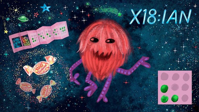 Rymdis 3: En X18:ian. Bild Anna Sandler