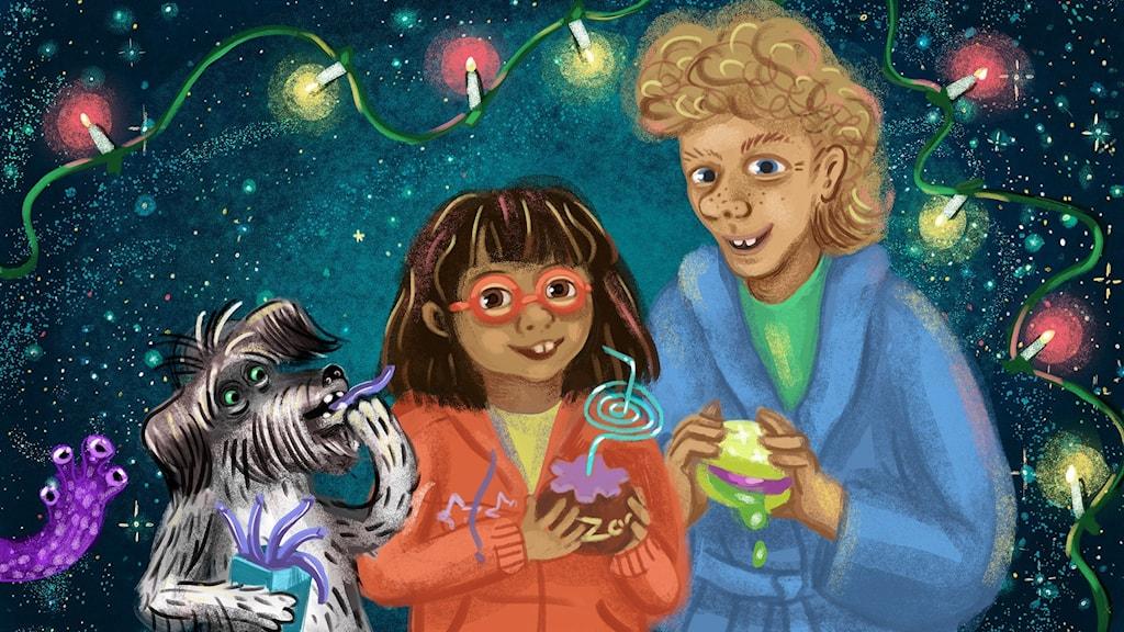 Tyra, Lukas och Rufsa i Biggest Bang. Bild: Anna Sandler