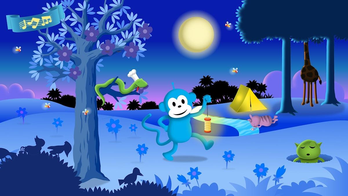 Godnattsång: Natt i Sagoskogen