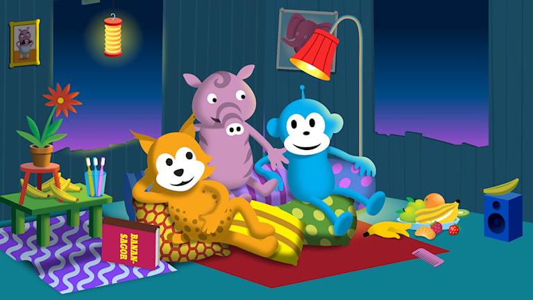 Lugna mysiga program och godnattsånger att lyssna på innan man ska sova.