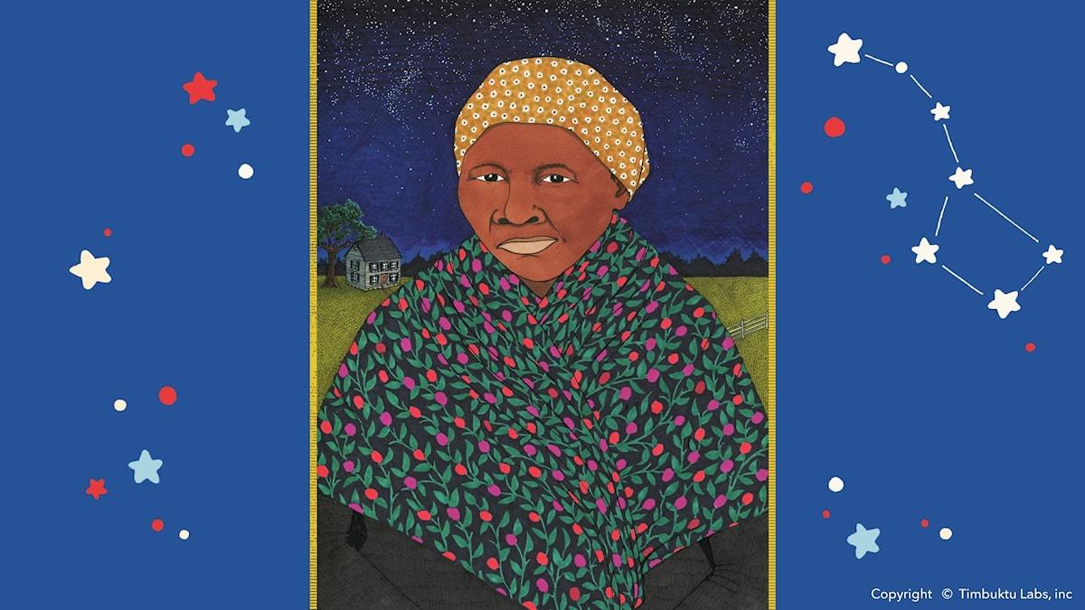 Harriet Tubman. Illustratör: Sally Nixon, Copyright © Timbuktu Labs, inc