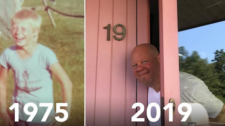 Kai Hannonen vuonna 1975 ja 2019.