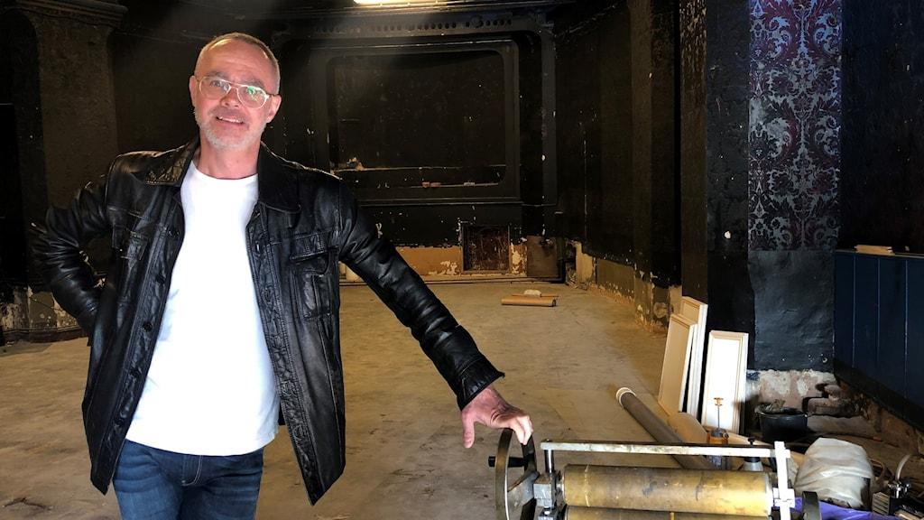 Hans Qviström, ordförande för Södertälje Teateramatörer.