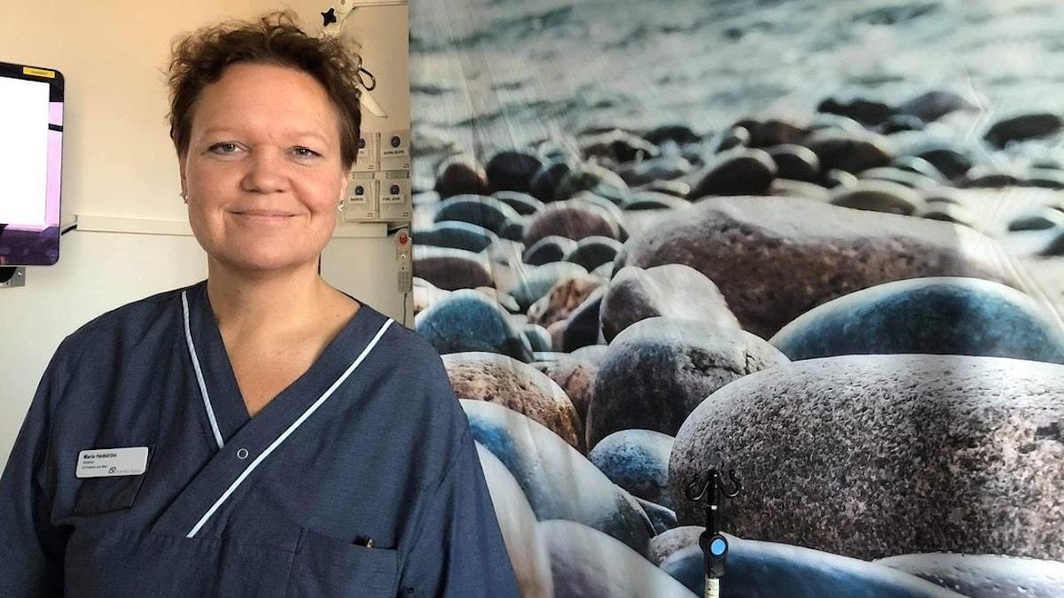 Vårdchef och barnmorskan Maria Hedström.