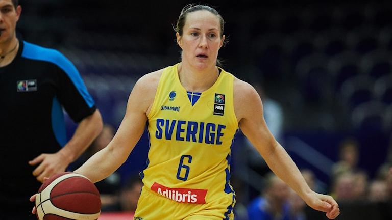Basketspelare Frida Eldebrink.