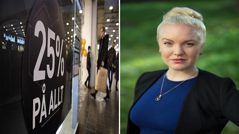 Alexandra Davidsson, generalsekreterare för föreningen medveten konsumtion tycker att köphetsen påverkar klimatet.