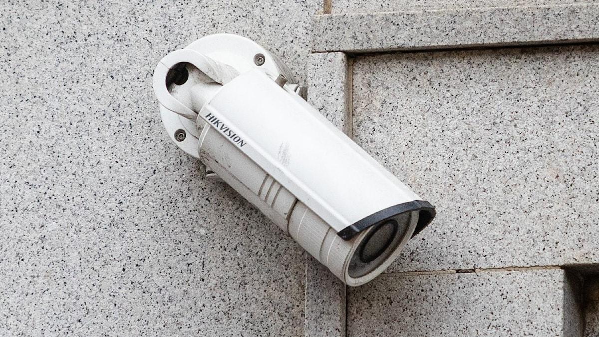 videokamera på husvägg