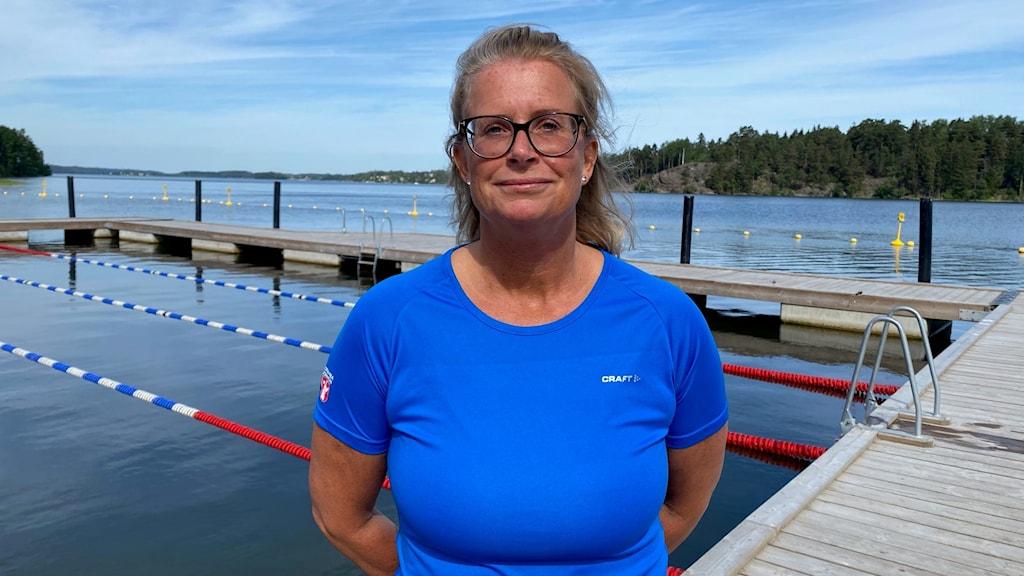 Ulrika Höglund är chef för badenheten i Botkyrka kommun.