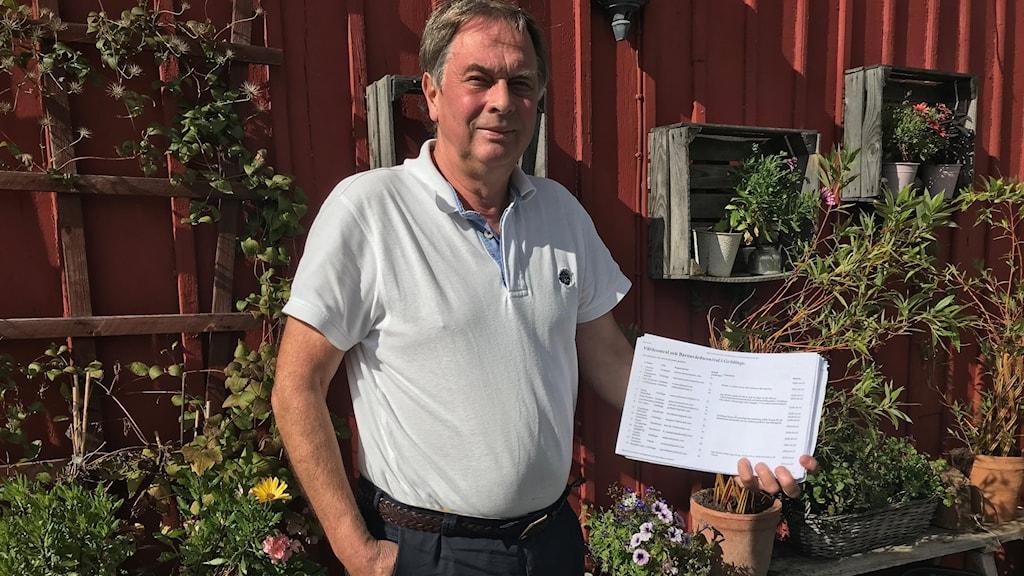 Christer Jentzen har fått ihop 500 underskrifter från Grödingebor som vill ha en barnavårdscentral och vårdcentral i Grödinge.