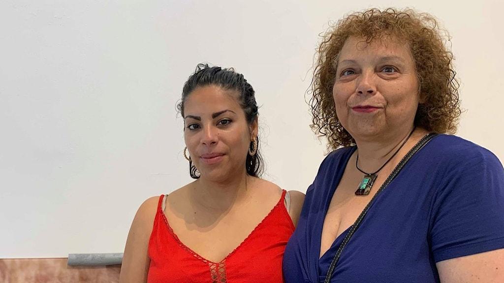 Emma Dominguez och hennes mamma Gloria Martines.