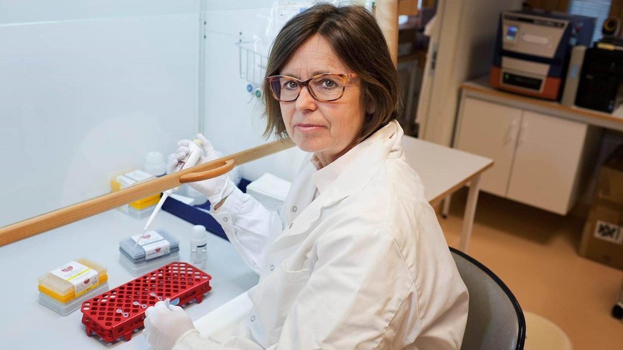 Anna-Lena Spetz, professor i immunologi vid Stockholms universitet