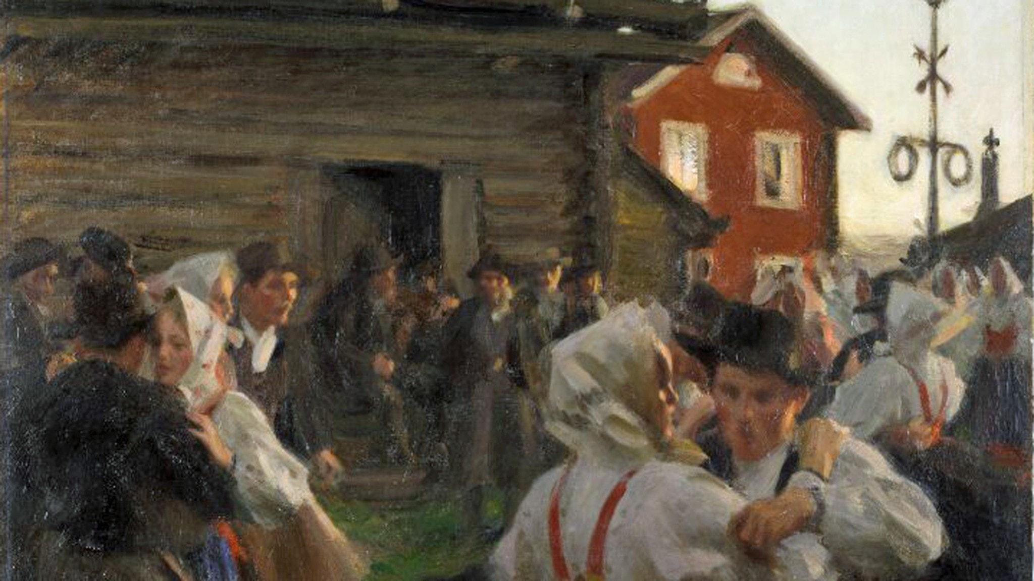 Anders Zorn, Midsommardans, 1897 Olja på duk (detalj)