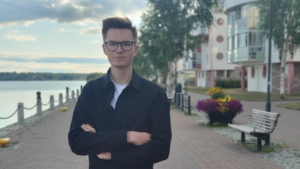 William Oldenborg från Örnsköldsvik går andra året på gymnasiet.