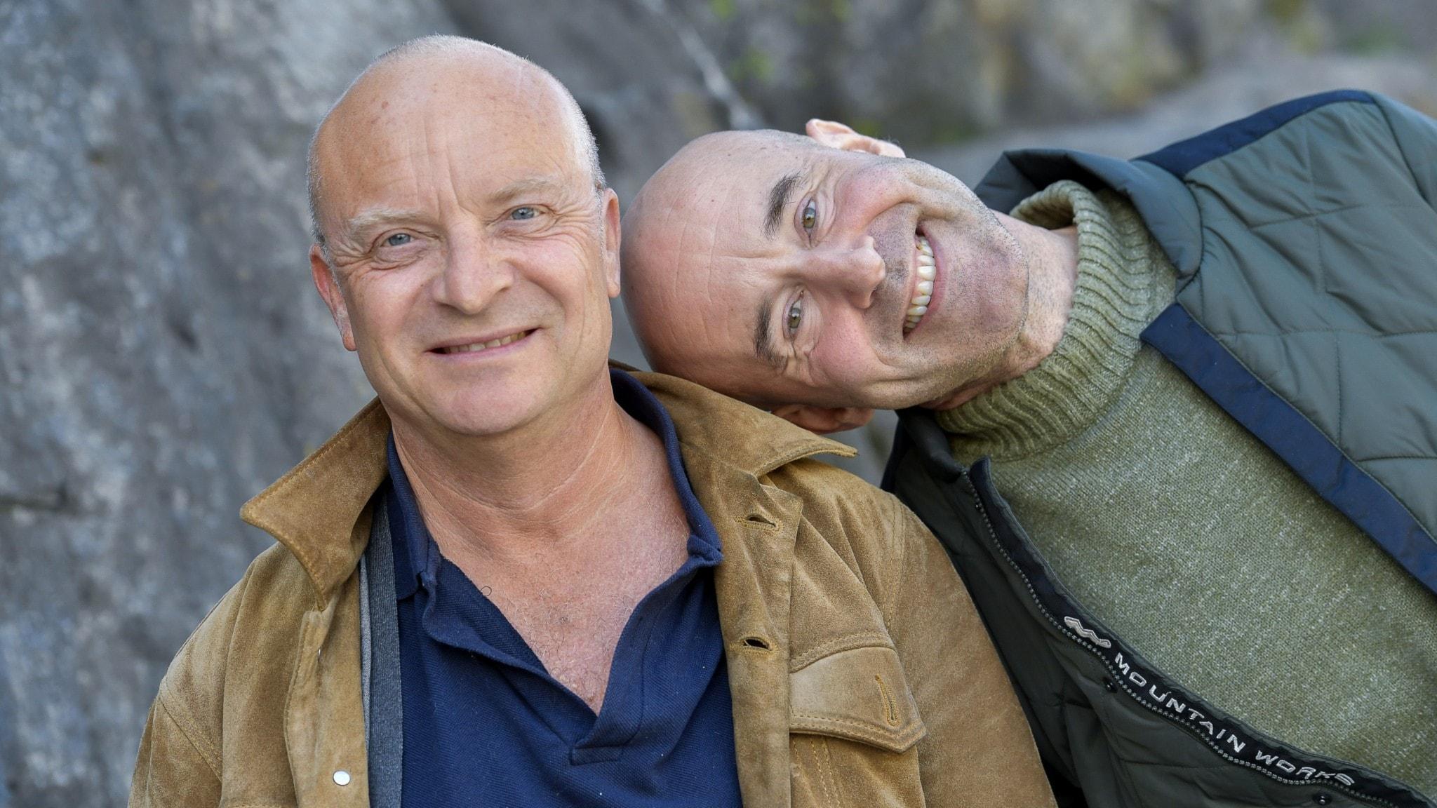 Mark Levengood är aktuell med ny podd tillsammans med maken Jonas Gardell.